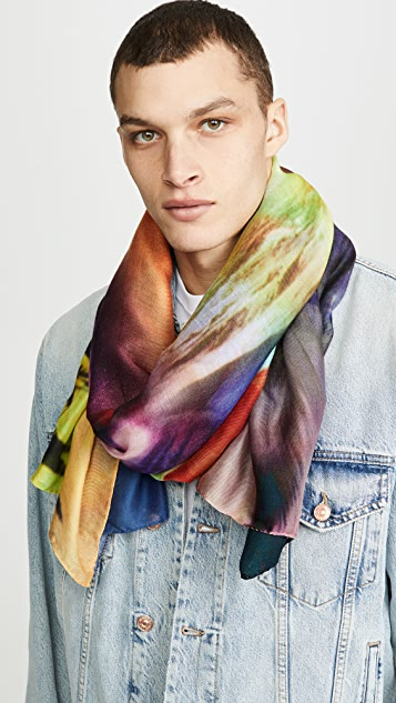 Paul Smith Patched Photo Scarf