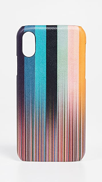 Paul Smith Faded Stripe iPhone X Case