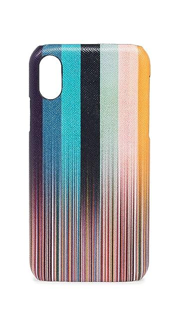 Paul Smith Faded Stripe iPhone X Case
