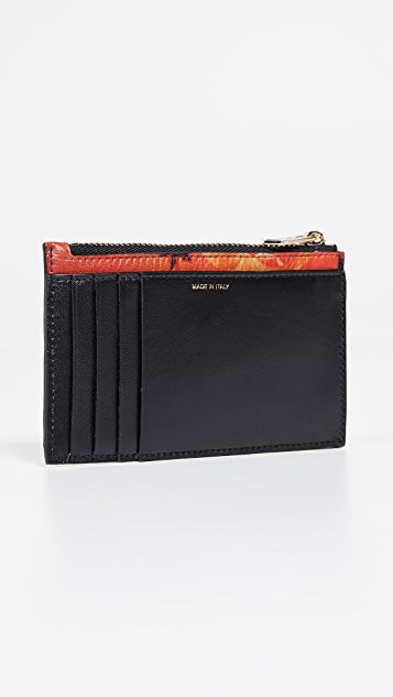 Paul Smith Photo Print Zip Card Case