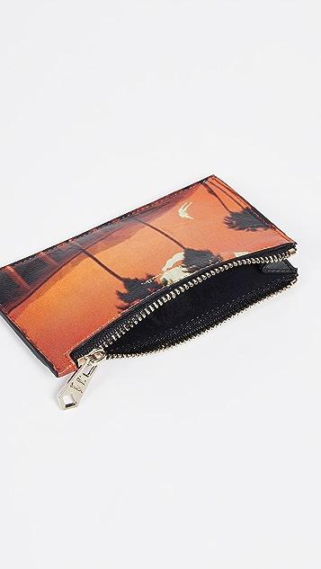 Paul Smith Photo Print Zip Card Case