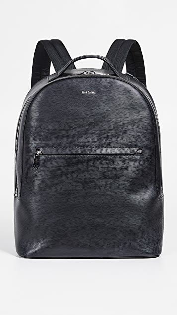 Paul Smith Embossed Leather Backpack