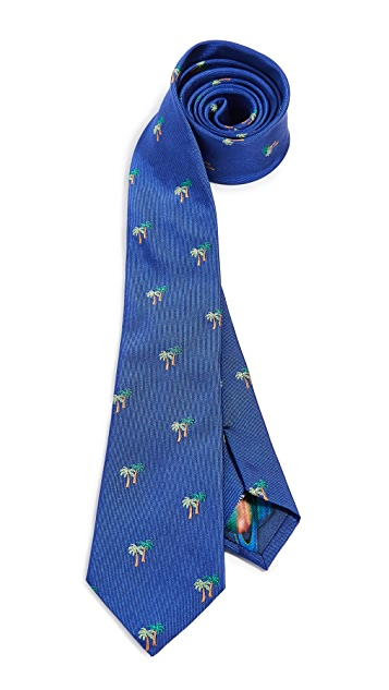 Paul Smith Palm Narrow Tie