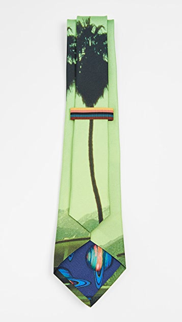Paul Smith Palm Photo Print Narrow Tie