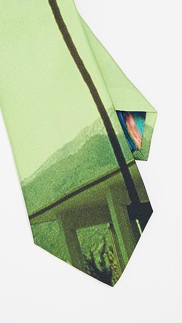 Paul Smith Palm Photo Print Narrow Tie