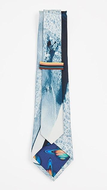 Paul Smith Pool Photo Print Narrow Tie