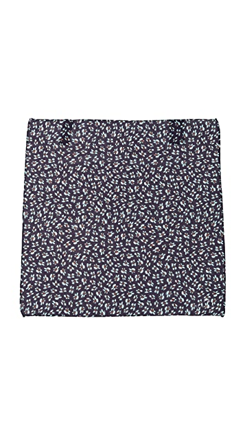 Paul Smith Flower Print Pocket Square