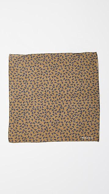 Paul Smith Turtle Print Pocket Square