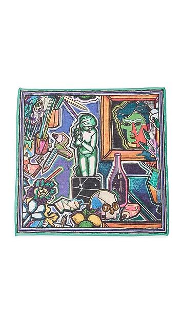 Paul Smith Artist Print Pocket Square