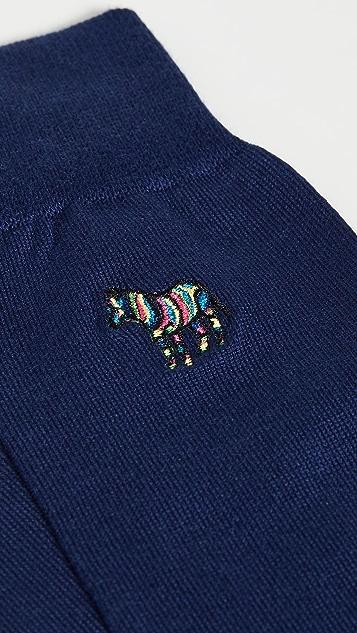 Paul Smith Embroidered Zebra Socks