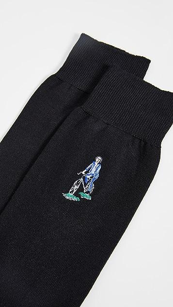 Paul Smith Embroidered Cyclist Socks
