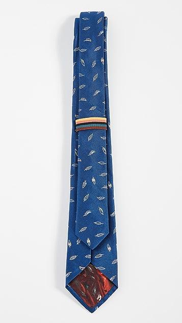 Paul Smith Narrow Leaf Printed Tie