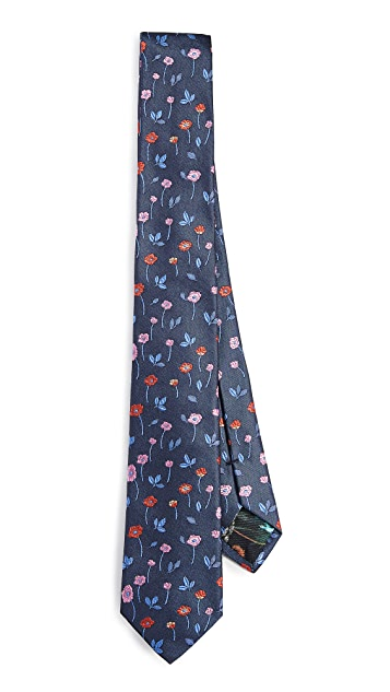 Paul Smith Floral Narrow Tie