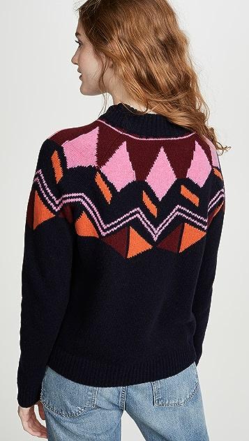 Paul Smith Шерстяной свитер с жаккардовым узором