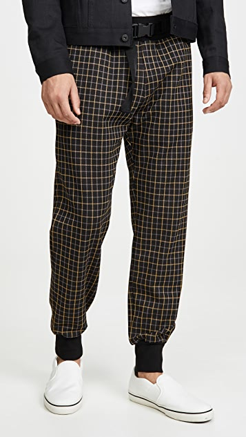 Paul Smith Plaid Belted Joggers