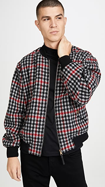 Paul Smith Plaid Unlined Bomber Jacket