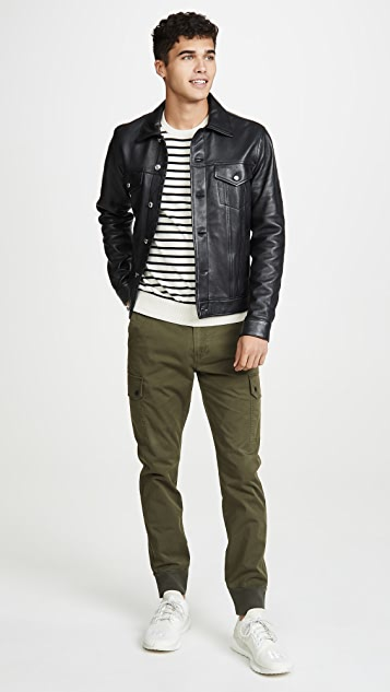 Paul Smith Leather Trucker Jacket
