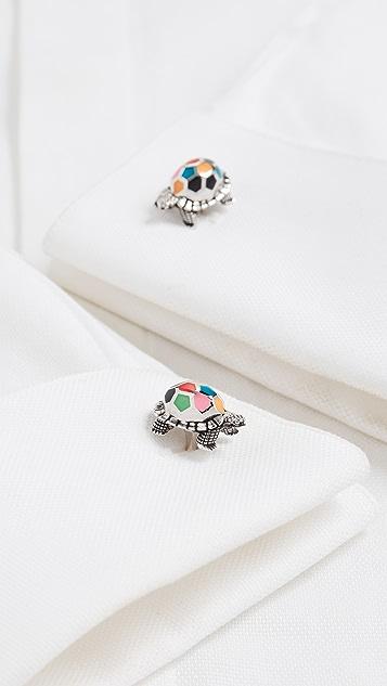 Paul Smith Colorful Turtle Cufflinks