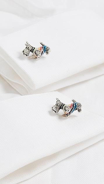 Paul Smith Dog In Stripe Jumper Cufflinks