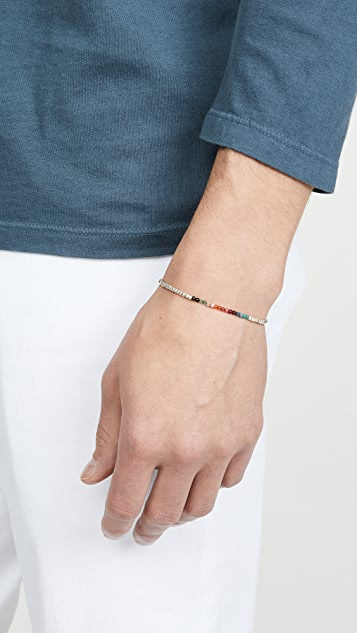 Paul Smith Artist Stripe Beaded Bracelet