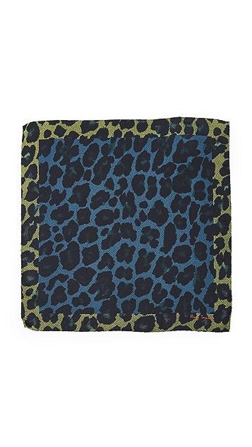 Paul Smith Leopard Print Pocket Square