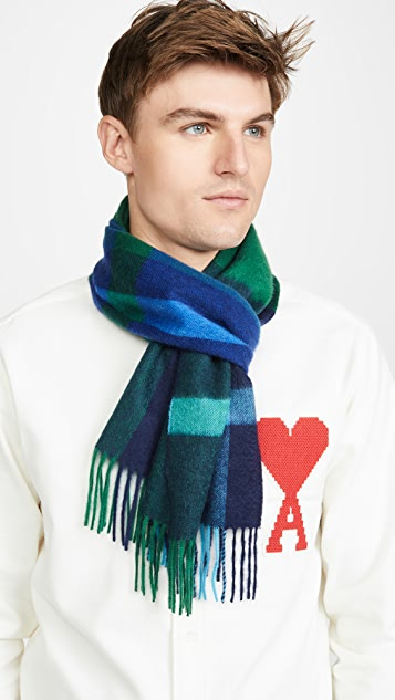 Paul Smith Amanda Cashmere Check Scarf