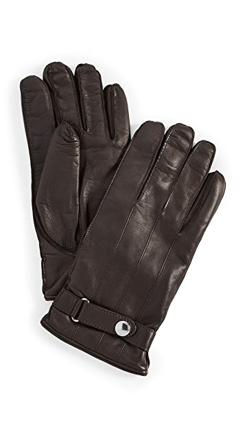 Paul Smith Strap Leather Gloves