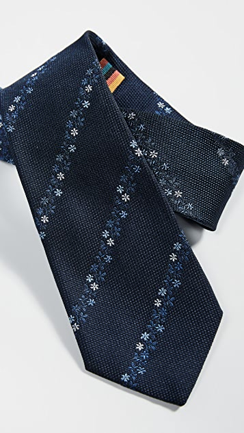 Paul Smith Floral Stripe Tie