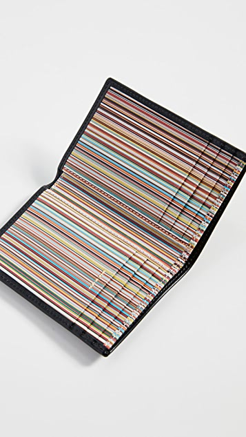 Paul Smith Interior Stripe Folded Card Case