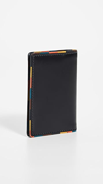 Paul Smith Striped Edge Folded Card Case