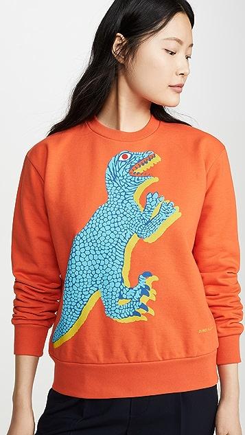Paul Smith 橙色恐龙运动衫