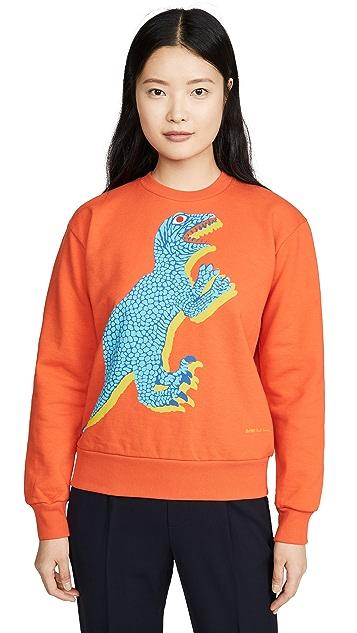 Paul Smith Orange Dino Sweatshirt