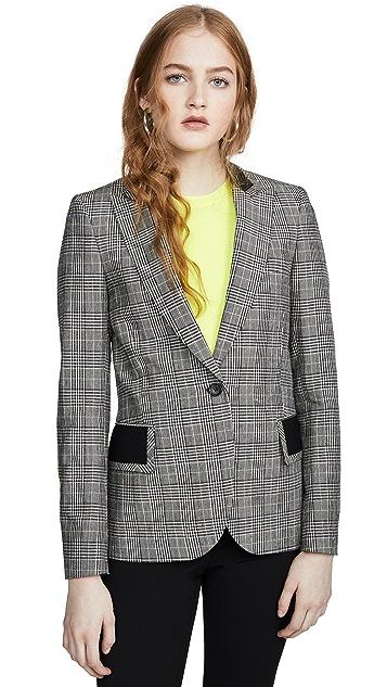 Paul Smith 黑色/白色格子西装外套