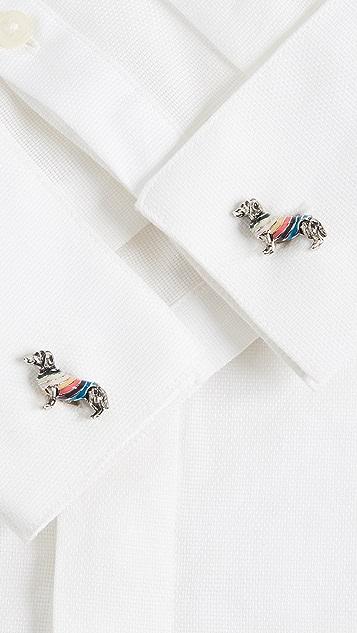 Paul Smith Dog In Stripe Sweater Cufflinks