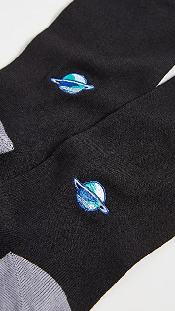Paul Smith Embroidered Planet Socks