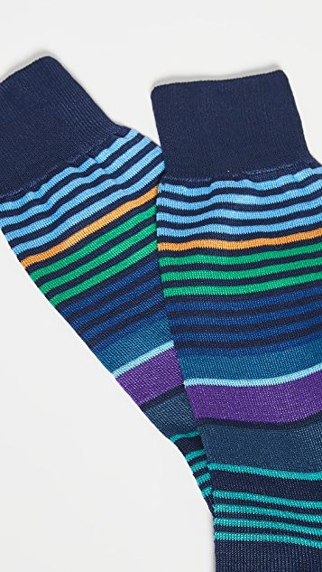 Paul Smith Hugh Mercerised Stripe Socks