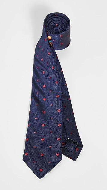 Paul Smith Heart Print Tie
