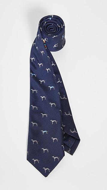 Paul Smith Dog Print Tie