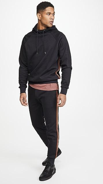 Paul Smith Multi Stripe Pullover Hoodie