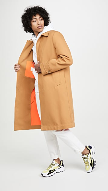 Paul Smith Mac Topcoat with Orange Lining