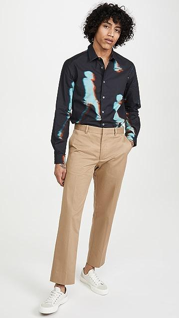 Paul Smith Slim Gradient Print Long Sleeve Shirt
