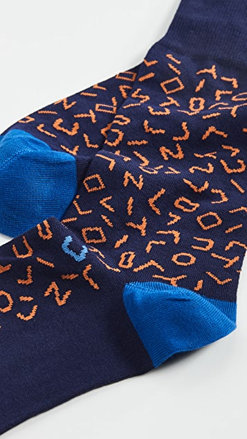 Paul Smith Sky Code Socks