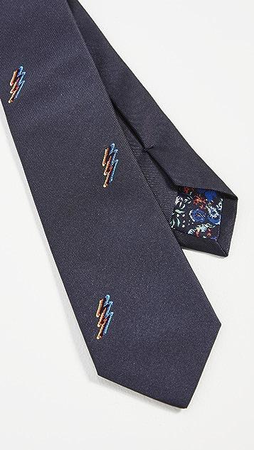 Paul Smith Printed Narrow Tie