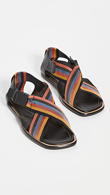 Paul Smith Arrow Striped Strap Sandals