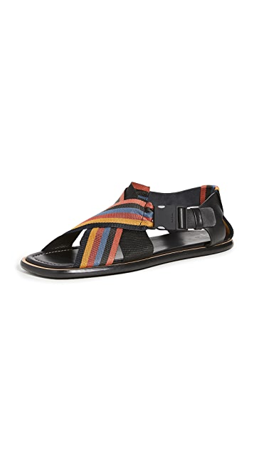 Paul Smith Arrow Striped Strap Sandals