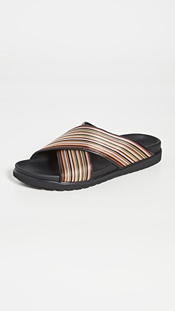 Paul Smith Pax Striped Sandals