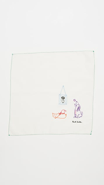 Paul Smith Paul's Drawing Pocket Square
