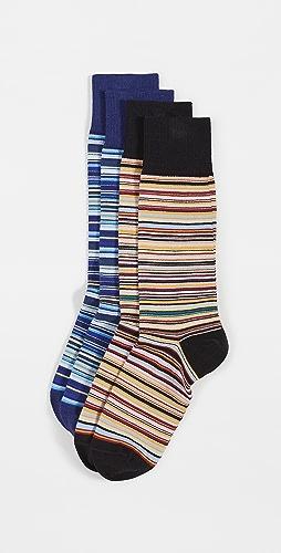 Paul Smith - Men Socks 2 Pack Multi