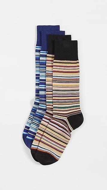 Paul Smith Men Socks 2 Pack Multi