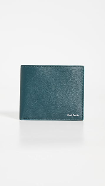 Paul Smith Leather Billfold Wallet with Contrast Interior